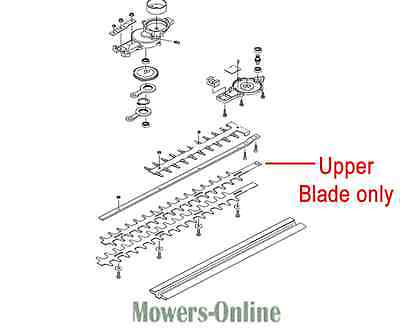 Mitox 26LH-SP 26MT-SP Hedgetrimmer Blade MIC26.0615.0028 Top or Bottom