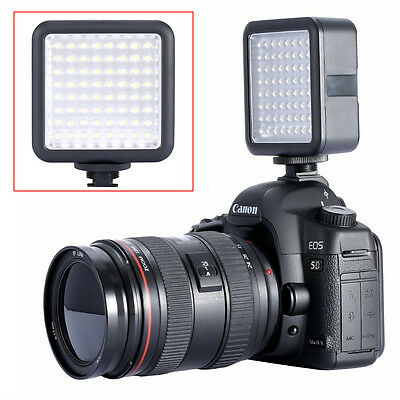 Neewer LED64 5500K-6500K Color Temp Professional Dimmable LED Video Light