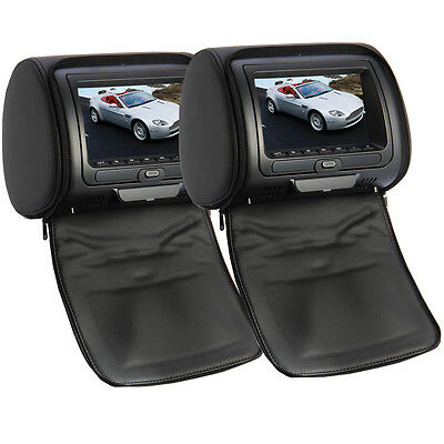 7inch Black Car Headrest Monitor HD Digital LCD Screen for DVD Player 32Game New