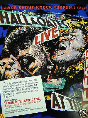 HALL & OATES Dance Shout etc 1985 PROMO POSTER AD mint