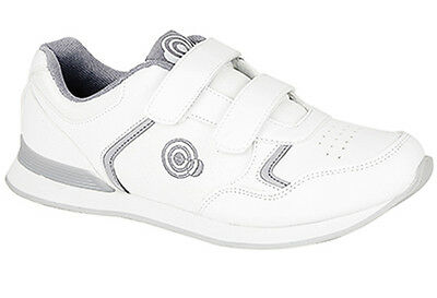 Mens Brand New Wide Fitting White Carpet Bowls Bowling Shoes Size 3 - 11