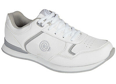 Womans Ladies Girls New White Lace Up Bowls Bowling Shoes Size UK 3 - 8