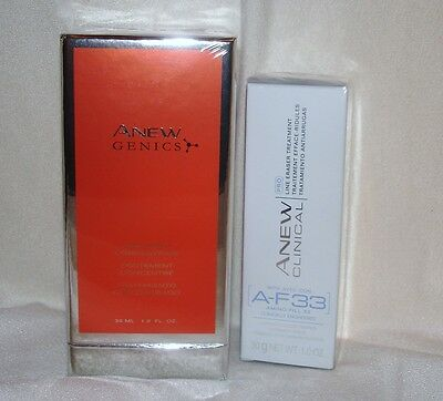 AVON ANEW CLINICAL PRO LINE ERASER AND GENICS SERUM TWO NEW ANTI-AGING PRODUCTS