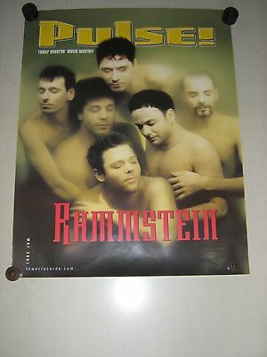 Rammstein / Promo poster - Pulse Magazine cover / Exc.+ New Cond./ 17 3/4 x 22
