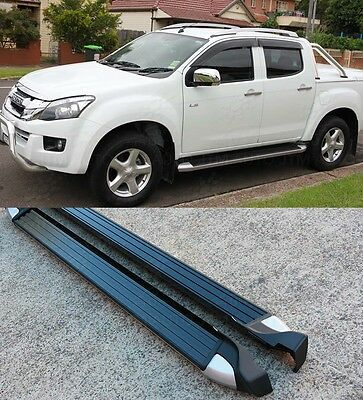 Isuzu D-max Dmax / Holden Colorado Running Boards Side Steps Aluminum 2012-2016