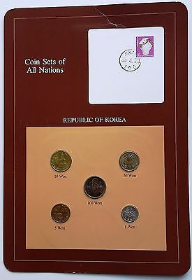 Korea 1983 Franklin Mint Coin Sets of All Nations 5  BU Coins 1971-80-82-83