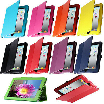 Book Form PU Leather Magnetic Folio Case Cover For Apple iPad 1 1st Generation