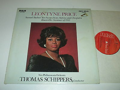 Lp/leontyne Price/schippers/barber/two Scenes From Antony And Cleopatra/rca 3062