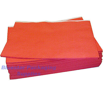 25 x Red Disposable Paper Table Cloth Cover 90x90cm