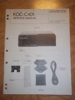 Kenwood Service Manual~KDC-C401 CD Changer/Player~Car Audio~Original Repair