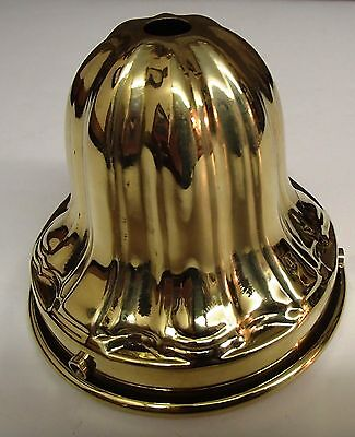 Solid brass 3 1/4 inch fitter lamp Sheffield style shade holder