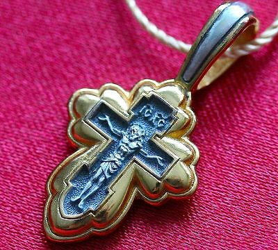 Valaam Icon Mother Of God Eastern Orthodox Crucifix Russian Silver 925 Prayer