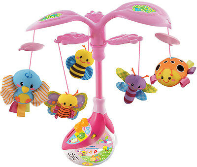 Vtech PINK SING AND SOOTHE MUSICAL MOBILE BUG Baby/Toddler Toy/Gift Nursery BN