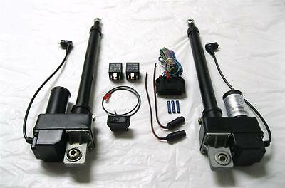 (2) TWO Heavy Duty 8 Inch Linear Actuator & Wring Switch Kit 225lb 12 Volt DC