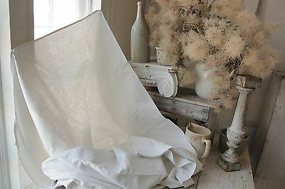 French linen sheet Vintage 81X120 metis c 1900 finely woven fabric textile