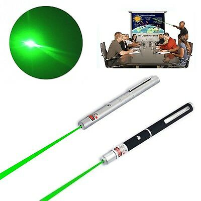 2 pc 5mW 532nm Powerful Military Green Light Beam Laser Pointer Presentation Pen