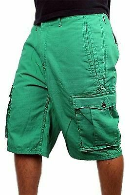New Nwt Levi's Men's Premium Cotton Cargo Shorts Original Relaxed Fit Green