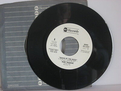 45 R&B RUBY ANDREWS Queen Of The Disco WLP Promo ABC-12257 ORIG EB451