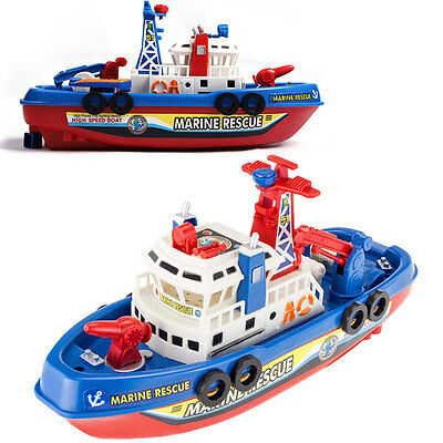 New Children toy Fire Boat Sound Flash Light Water Spray Ship Rescue Fireboat