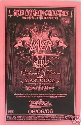 Slayer-Lamb Of God-Mastodon 2006 San Diego Tour Poster