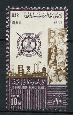 Egypt 1966 SG#885 Population Census MNH #A80177