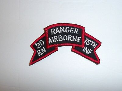 b5250 1980's US Army 2nd Battalion Ranger Airborne 75th Infantry Tab