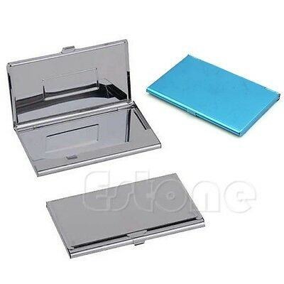 Stainless Steel Business Name Card Holder Credit ID Box Metal Pocket Box Case
