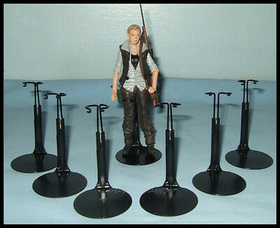 "6 Action Figure DISPLAY STANDS fit 5.5"" Walking Dead 6"" STAR WARS BLACK"