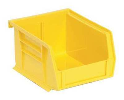 "Yellow Hang and Stack Bin, 5""L x 4-1/8""W x 3""H QUANTUM STORAGE SYSTEMS QUS200YL"
