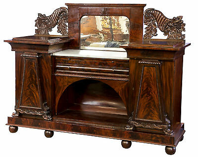 SWC-Classical Carved Mahogany Sideboard, Baltimore, c.1820