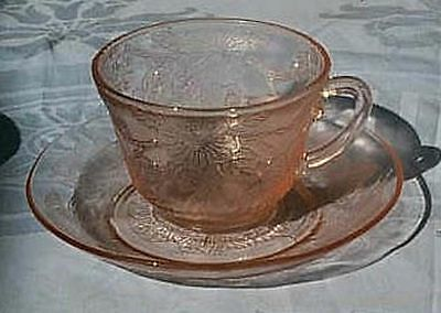 Dogwood pink thick cups & saucer