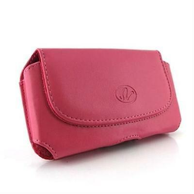 Pink Horizontal Leather Case Pouch For Samsung Behold II 2 Two SGH-T939
