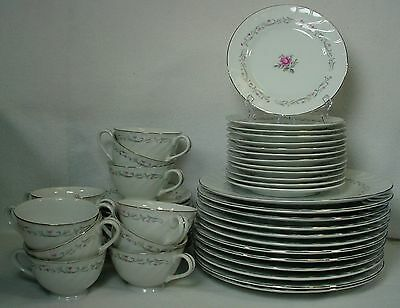 FINE CHINA of JAPAN china ROYAL SWIRL 48-pc SET SERVICE for 12 (4-pc setting)