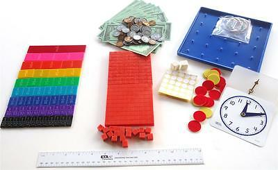 Homeschool Math Manipulatives Kit For Use With Saxon Bju Sonlight Grades K-6 New
