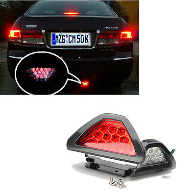 Red Car F1 style 12 LED Rear Tail Brake Stop Light Third Reverse Safety Fog Lamp