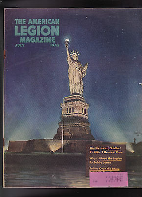 584802d52ec036 American Legion Magazine World War II Statue of Liberty Cover July 1945