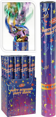 12x Party Popper 39cm - Konfetti Kanone als 12er Set - Konfettikanone Shooter
