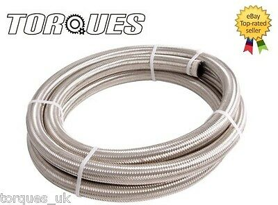 "AN-4 4AN 3/16"" Stainless Steel Braided Fuel Oil Hose 1m"