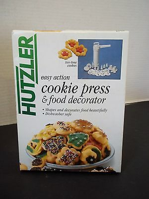 hutzler easy action cookie press and food decorator spritz christmas shapes #2