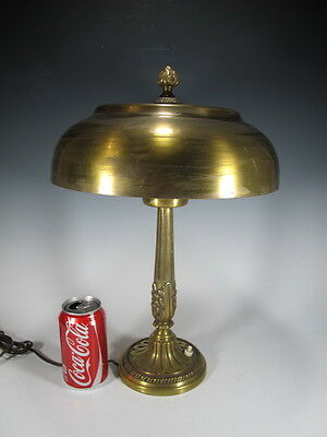 Old Bronze and Glass Table Lamp - 10121A