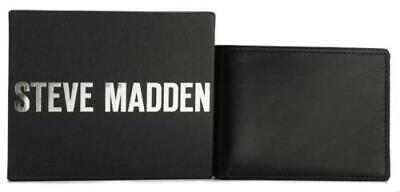 NEW STEVE MADDEN MEN/'S PREMIUM LEATHER TRIFOLD ID WALLET BROWN N80004//01