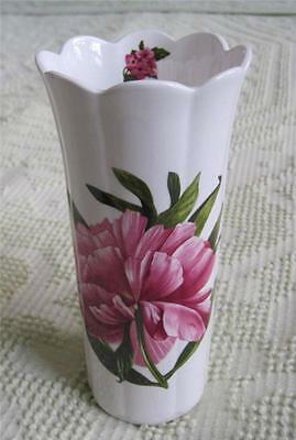 "Aynsley Chelsea Flowers 8.25"" Bone China Vase Made in England"