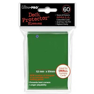 Ultra Pro 60 Small Size Green Deck Protector Sleeves Fit Yugioh 82966