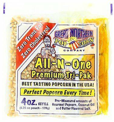 Great Northern Popcorn 4 Ounce Popcorn Portion Packs, Kit Cinema 1 Case (24) New
