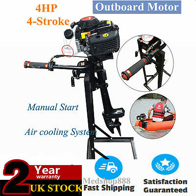 52cc 2.8kW/4HP CDI System Outboard Motor Fishing Sail Boat Engine 4-Stroke SELL