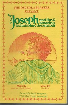 Programme 1992 - JOSEPH THE AMAZING DREAMCOAT Osceola Players Center For Arts