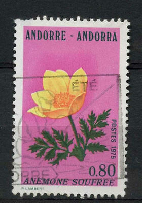 Andorra French 1975 SG#F265, 80c Pyrenean Flowers Used #A79052