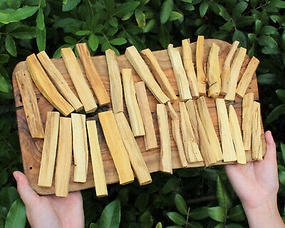 16 Stick Lot of Palo Santo Wood (Incense Smudging Cleansing Blessing)
