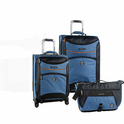 TIMBERLAND ROUTE 4 BLUE 3 PIECE SPINNER LUGGAGE SET $940 VALUE NEW