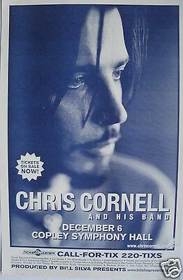 CHRIS CORNELL 2007 SAN DIEGO CONCERT TOUR POSTER - Soundgarden
